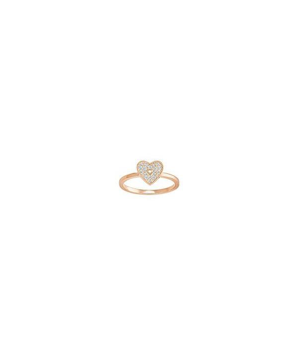 Anello Field Folded Heart, Bianco 5286715