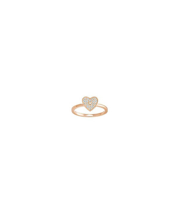 Anello Field Folded Heart, Bianco 5286715