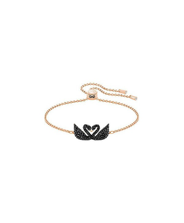 Bracciale Swarovski Iconic Swan Double oro rosa
