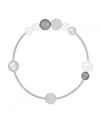 MIXED GRAY CRYSTAL PEARL SWAROVSKI REMIX COLLECTION, BIANCO, PLACCATURA RODIO 5365739