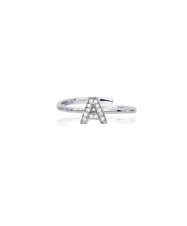 Anello Mabina iniziale in argento