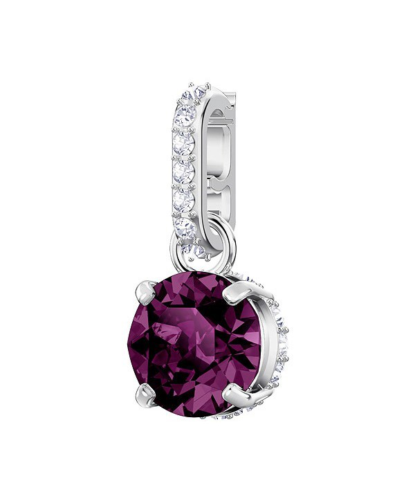 SWAROVSKI REMIX COLLECTION CHARM, FEBBRAIO, VIOLA, PLACCATURA RODIO 5437323