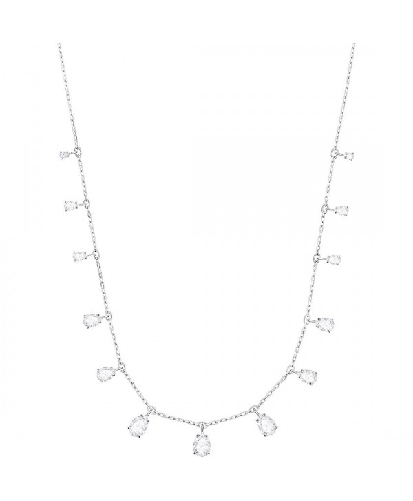 COLLANA DONNA SWAROVSKI ATTRACT PEAR, BIANCO, PLACCATURA RODIO 5384371
