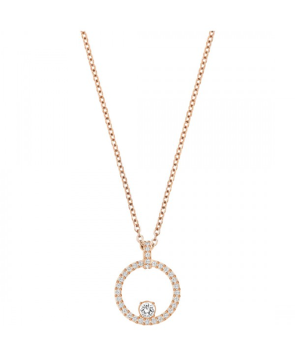 PENDENTE DONNA SWAROVSKI CREATIVITY CIRCLE, BIANCO, PLACCATO ORO ROSA 5202446