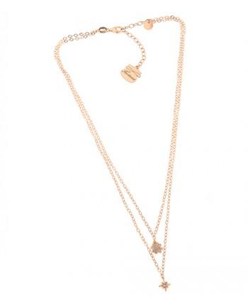 Collana Donna Doppia Quadrifoglio e Rosa dei Venti Piti Malì PIT 132/C-FO