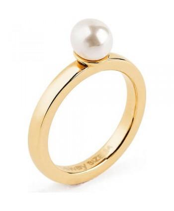 ANELLO DONNA BROSWAY collezione tring donna pvd oro e perla