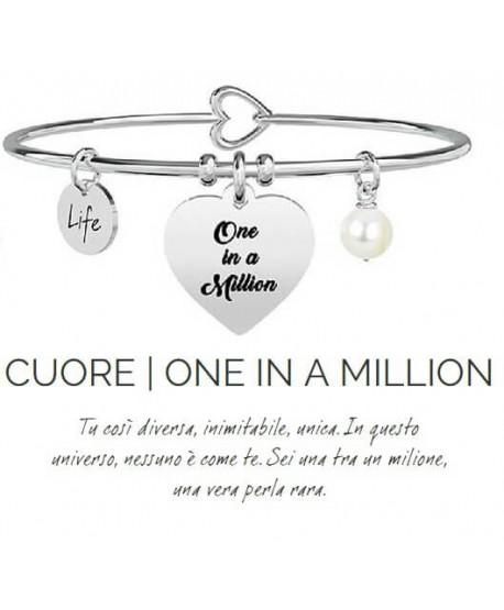 Bracciale Kidult Cuore/One in a million