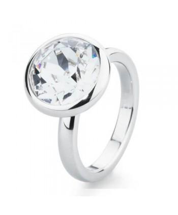 Anello Tring BTGC130A brosway speranza acciaio e cristallo swarovski blue shade