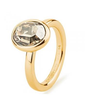 Anello Donna brosway Tring BTGC100 saggezza pvd oro e cristallo swarovski