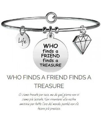 Bracciale Kidult Who finds a friend finds a tresure731096