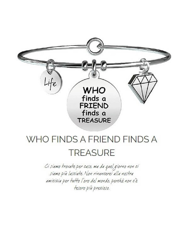Bracciale Kidult Who finds a friend finds a tresure731096