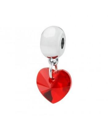 ciondolo brosway tres jolie cuore swarovski elements rosso romanticismo