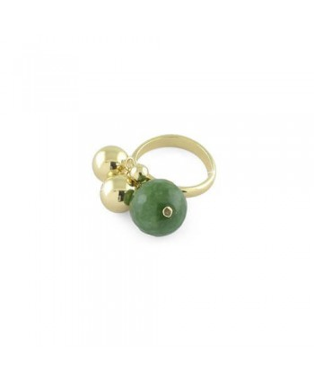 Anello Unoaerre Bronze bronzo dorato e agata verde 1590