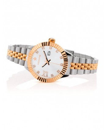 Orologio Hoops NEW LUXURY DIAMONDS SILVER AND GOLD