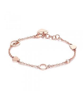 Bracciale S'Agapõ Happy Love acciaio rosato SHAN02