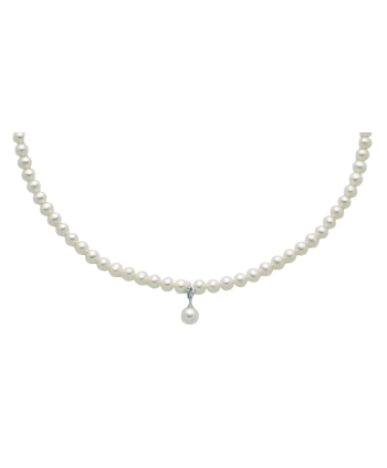 Collana Miluna perle e diamanti