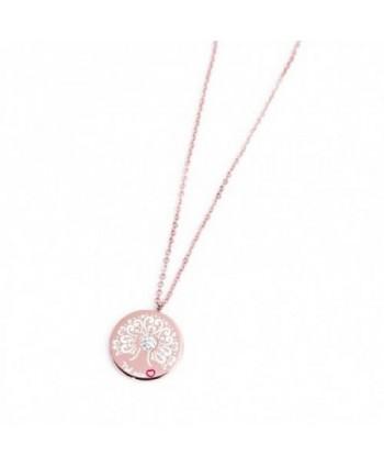 Collana Marlù Nel mio Cuore Albero della Vita 20 mm pvd oro rosa 15CN025R