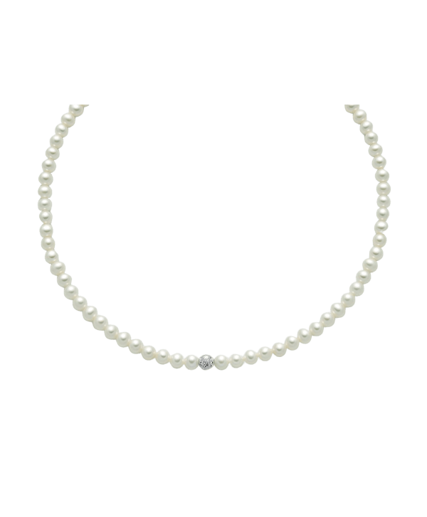 Collana Miluna perle diamantate