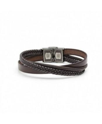 Bracciale Marlù Man Trendy cuoio, cotone e treccia marrone 4BR1799M