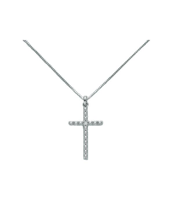 Collana Miluna croce e diamanti