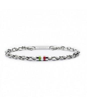 Bracciale Marlù Italia nel cuore catena marine e barile tricolore 22br003