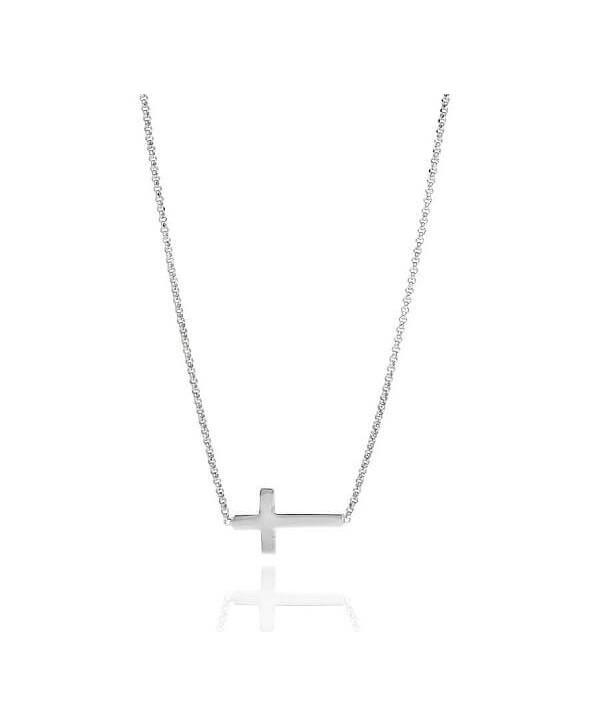 Collana Amen Croce argento/oro rosa