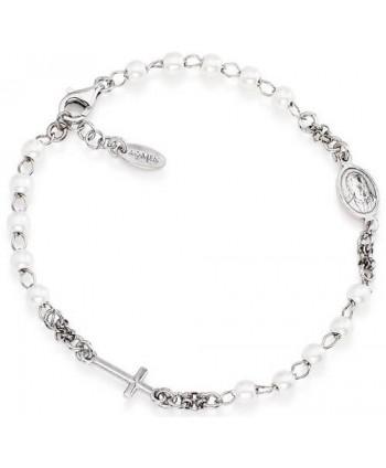 Bracciale Amen Rosario perle argento o oro rosa