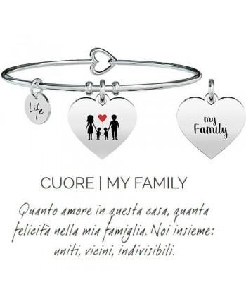 Bracciale Kidult Cuore/My Family