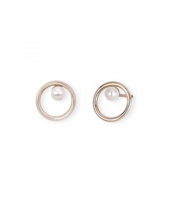 Orecchini 2Jewels Minimal Chic Pvd oro rosa e perla 261288