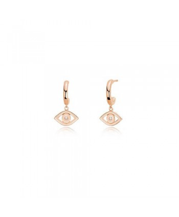Orecchini Mabina Occhio argento rosato e zircone 563280