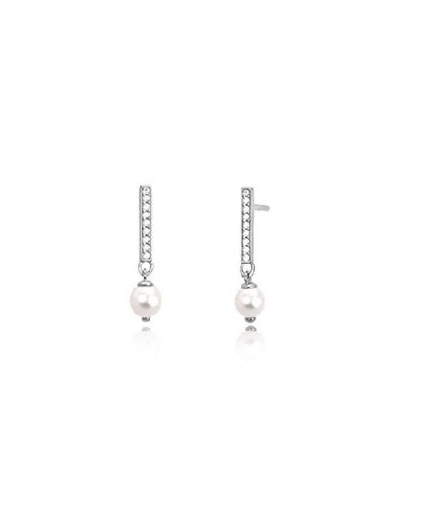Orecchini Mabina zirconi e perla