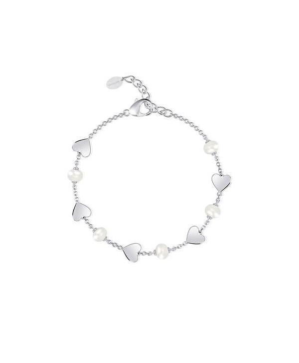 Bracciale Mabina cuori e perle