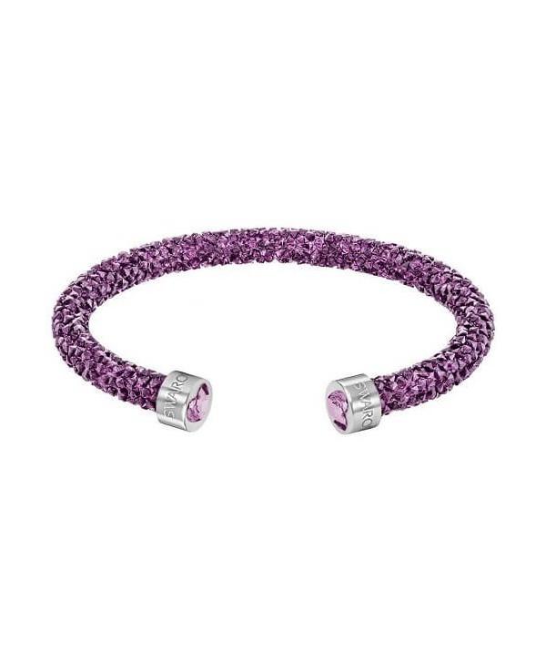 Bracciale rigido swarovski Crystaldust Heart Viola 5278499 5292447
