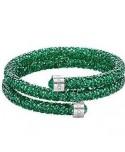 Bracciale rigido swarovski Crystaldust Double Verde 5292450