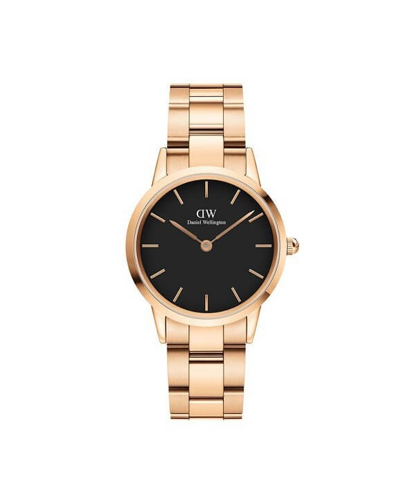 Orologio Daniel Wellington Icon Link black e rosé 28 mm DW00100214