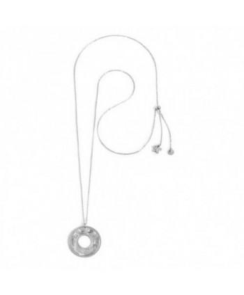 Collana lunga Marlù Vision Cerchio metallico argentato 33CO0011