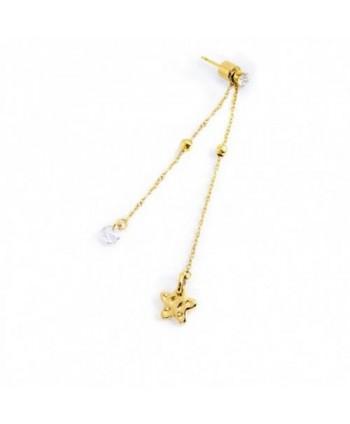 Mono orecchino lungo Marlù Vision Stella dorata 33OR0003G