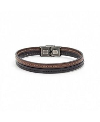 Bracciale Marlù Man Trendy  cuoio nero e marrone 4BR1800NM
