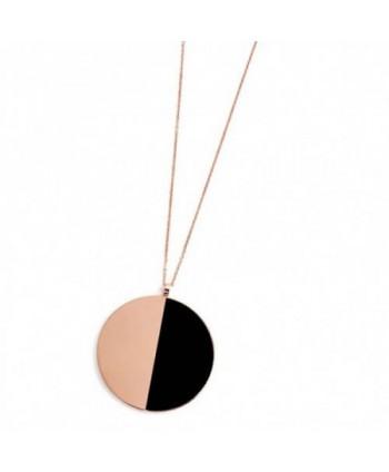 Collana lunga Marlù Be Woman Cerchio rosé e nero 2CO0054R-NR