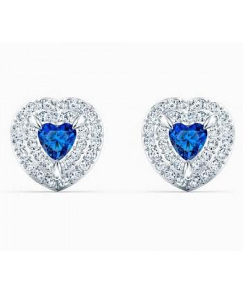 Orecchini Swarovski One cuore blu 5511685