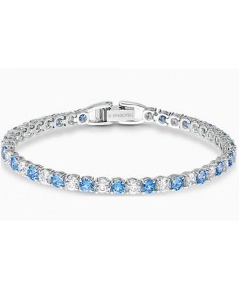 Bracciale Swarovski Tennis Deluxe blu e bianco 5536469