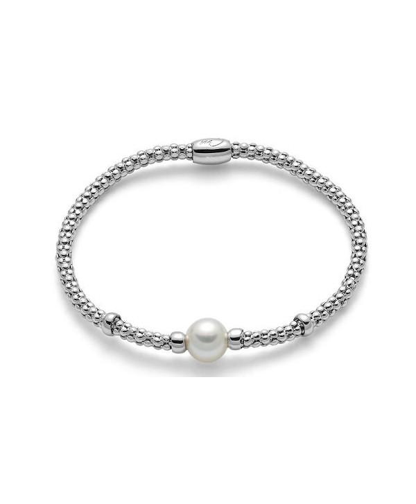 Bracciale elastico Miluna Miss Italia 2019 perla bianca