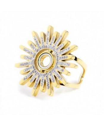 Anello Marlù Vision Sole rotante dorato cristalli e madre perla 33AN0001G