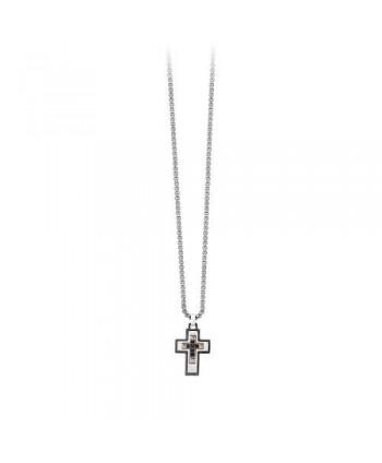 Collana 2Jewels Collezione Faith Croce zirconi neri 251629