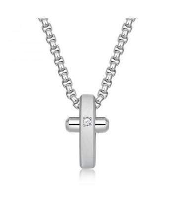 Collana Brosway Crux cristallo bianco BRX11