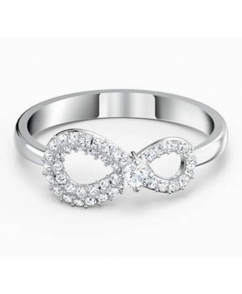 Anello Swarovski Infinity argento