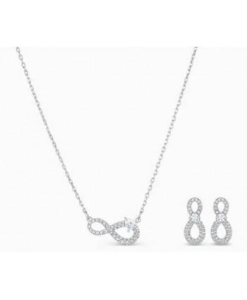 Set collana più orecchini Swarovski Infinity