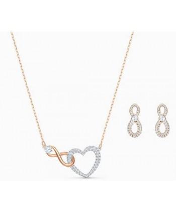 Set collana più orecchini Swarovski Infinity bicolore 5521040