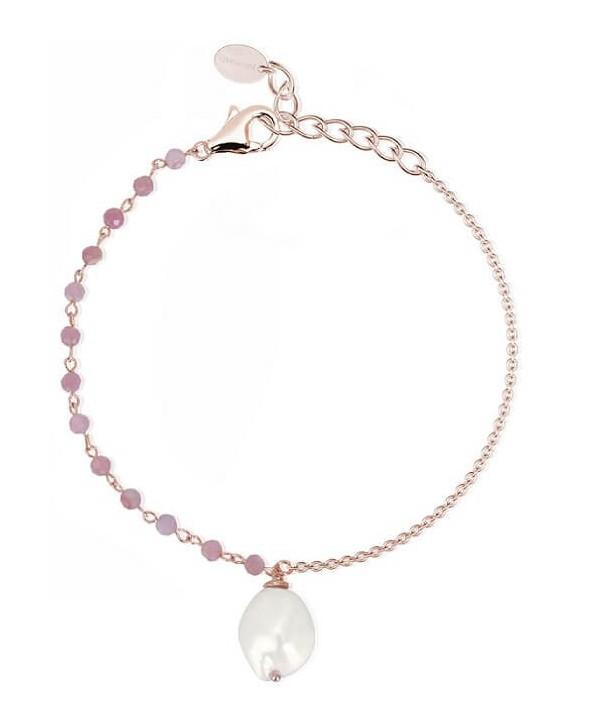 Bracciale Mabina Tormalina rosa