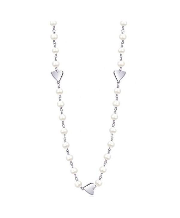 Collana Mabina perle e cuori